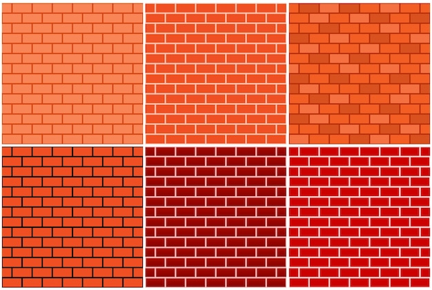Bakstenen muur naadloos patroon
