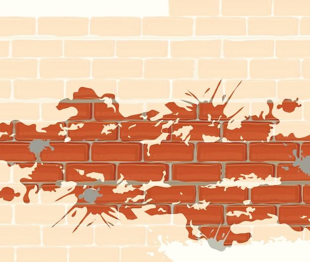 Bakstenen muur ontwerp.