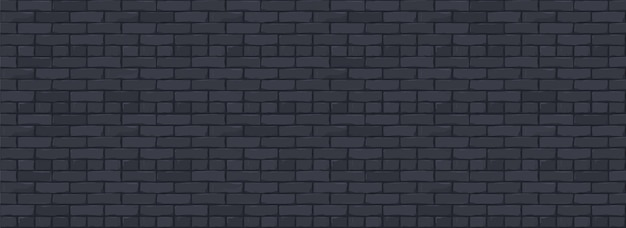 Bakstenen muur textuur achtergrond. digitale illustratie van black color brickwall.
