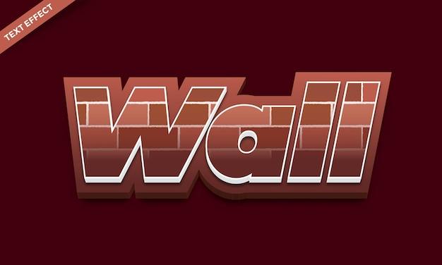 Bakstenen muur textuur teksteffect ontwerp