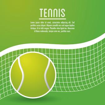 Bal en competitie van tennis sport ontwerp