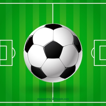 Bal en voetbalveld