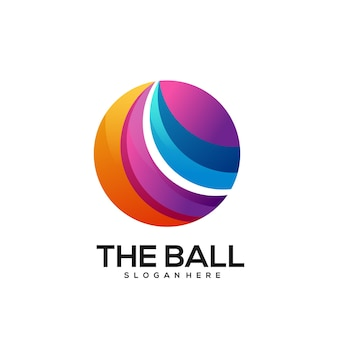 Bal logo kleurrijke gradiënt