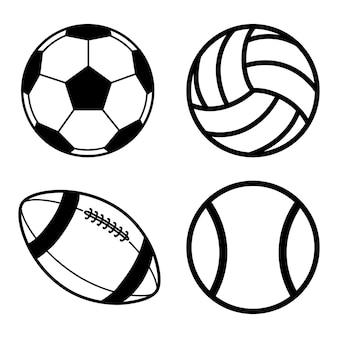 Bal vector pack voetbal volleybal tennis voetbal