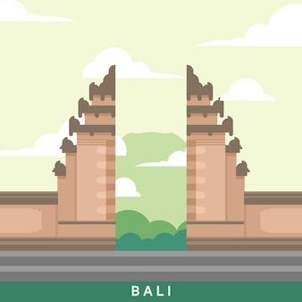 Bali landmark van indonesië