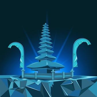 Bali oriëntatiepunt vectorontwerp