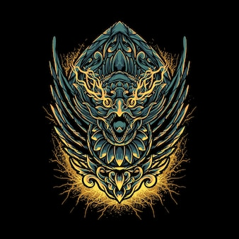 Balinees jatayu-hoofd