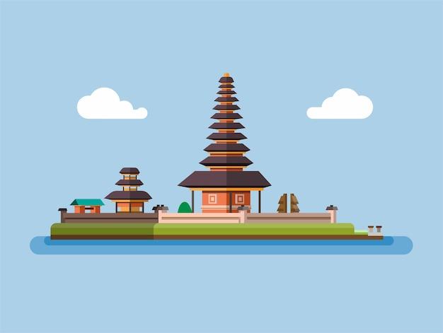 Balinese tempel illustratie