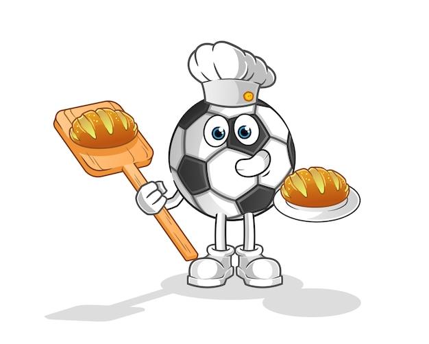 Ball baker met brood cartoon