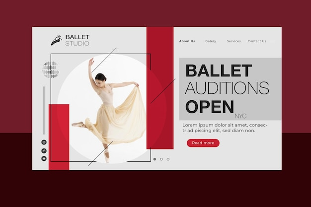 Ballet concept bestemmingspagina