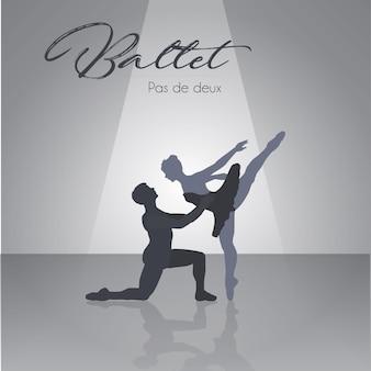 Ballet duo Premium Vector