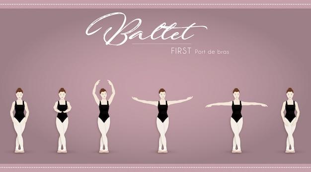 Ballet eerste port de bras