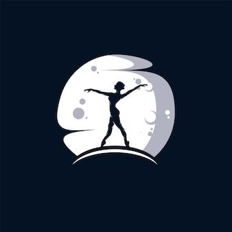 Ballet of dans in de maan