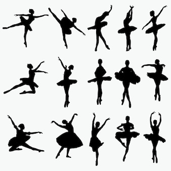 Balletdanser silhouetten