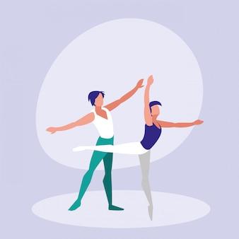 Balletdansers mannen geïsoleerde pictogram