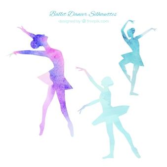 Balletdansers silhouetten