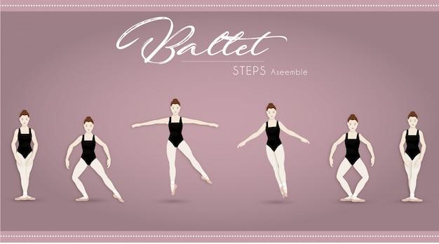 Balletstappen monteren