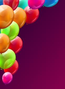Ballon brunch achtergrond, gelukkige verjaardag concept