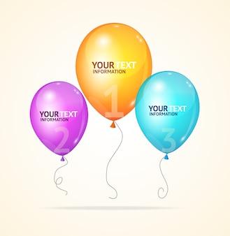 Ballon geïsoleerd op een witte achtergrond, worden gebruikt voor web, opties, brochures intensiveren. optie banner