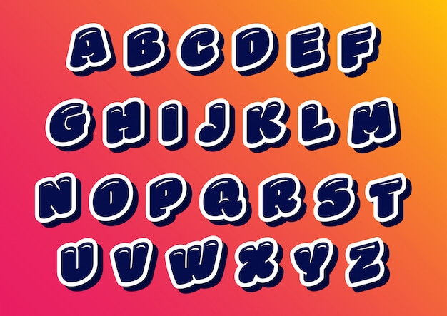 Ballon happy kids alfabet set