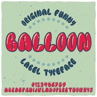 Ballon lettertype