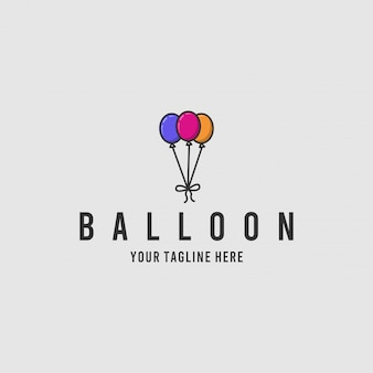Ballon minimalistische logo-ontwerpinspiratie