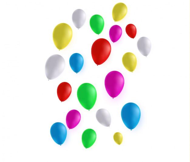 Ballon op een transparant. feestelijke rubberen bal gevuld met helium.