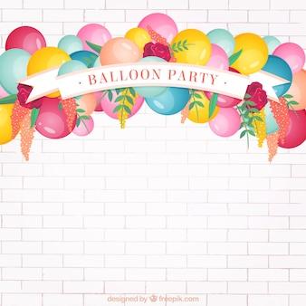 Ballon partij achtergrond