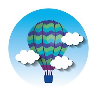 Ballonlucht heet vliegend in de hemel