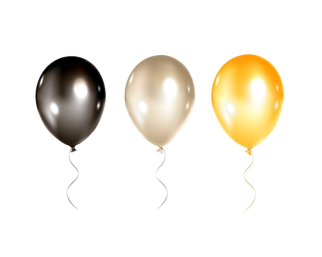 Ballonnen collectie geïsoleerd