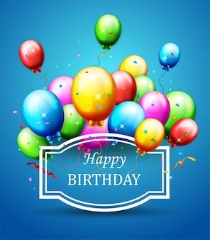 Ballonnen en confetti voor feestjes verjaardag