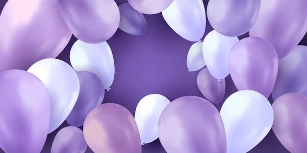 Ballonnen feest achtergrond