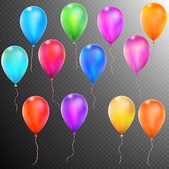 Ballonnen geïsoleerd.