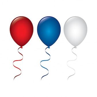 Ballonnen in usa kleuren