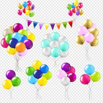Ballonnen instellen verloopnet, illustratie