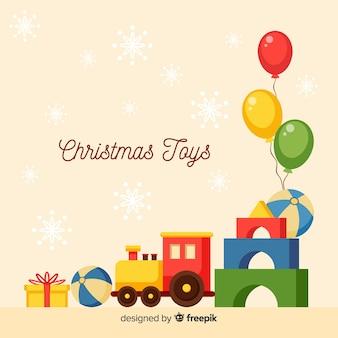 Ballonnen kerstmis speelgoed achtergrond
