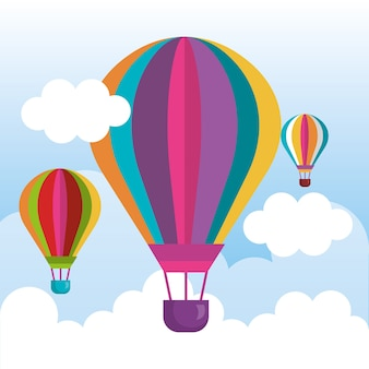 Ballonnen luchtheet vliegen