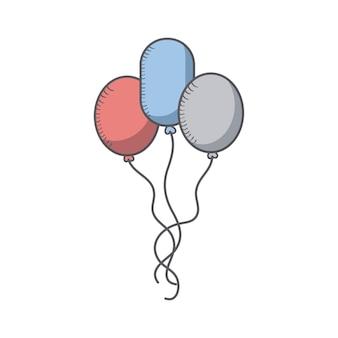 Ballonnen met usa vlag kleuren