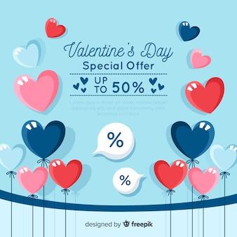 Ballonnen valentijnsdag verkoop backgrond