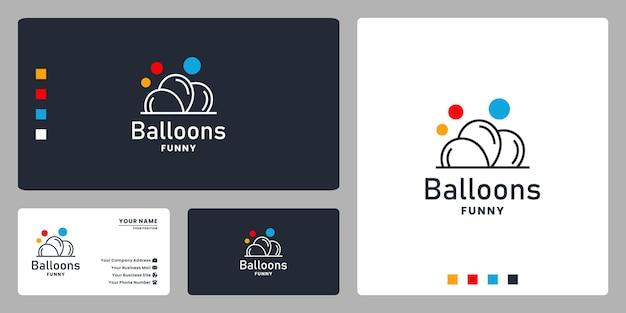Ballonnen verjaardagsfeestje logo ontwerp