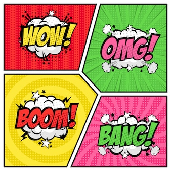 Baloon tekst speech bubble pop-art stijl collectie