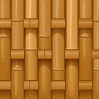 Bamboe hout wevend patroon, natuurlijke rieten textuuroppervlakte Premium Vector