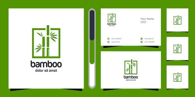 Bamboe logo ontwerp
