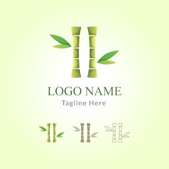 Bamboe logo sjabloon