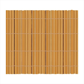 Bamboe mat achtergrond voor het maken van sushi. bovenaanzicht. realistische textuur makisu of gordijn.