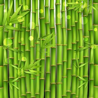 Bamboe oosterse naadloos patroon