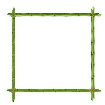Bamboe stengels frame sjabloon.