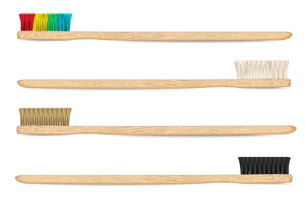Bamboe tandenborstels vector