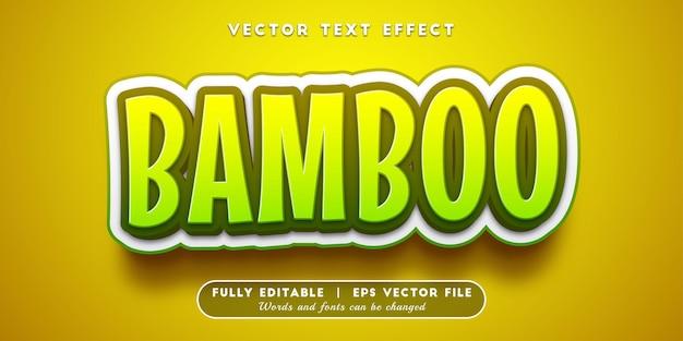 Bamboe-teksteffect, bewerkbare tekststijl