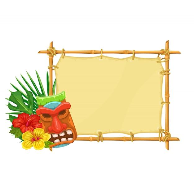 Bamboe uithangbord tiki